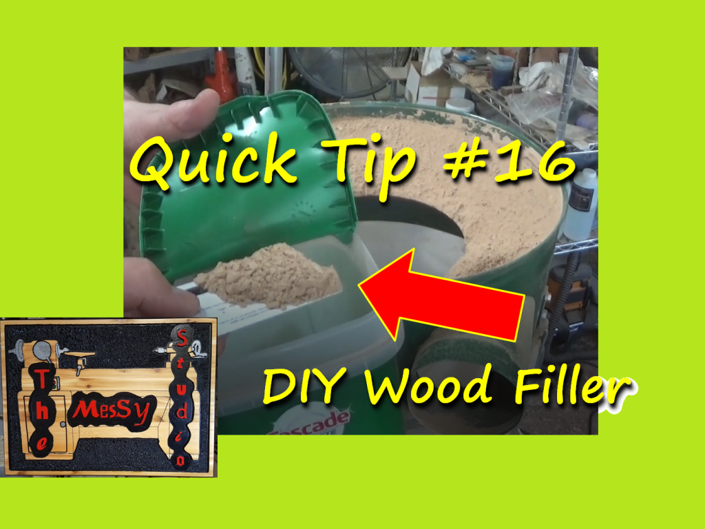 Quick Tip #16 – DIY Wood Filler