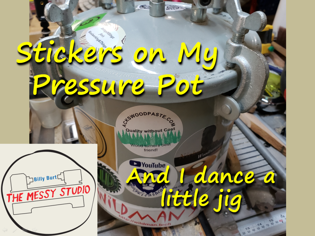 Stickers on My Pressure Pot… And I dance a little jig