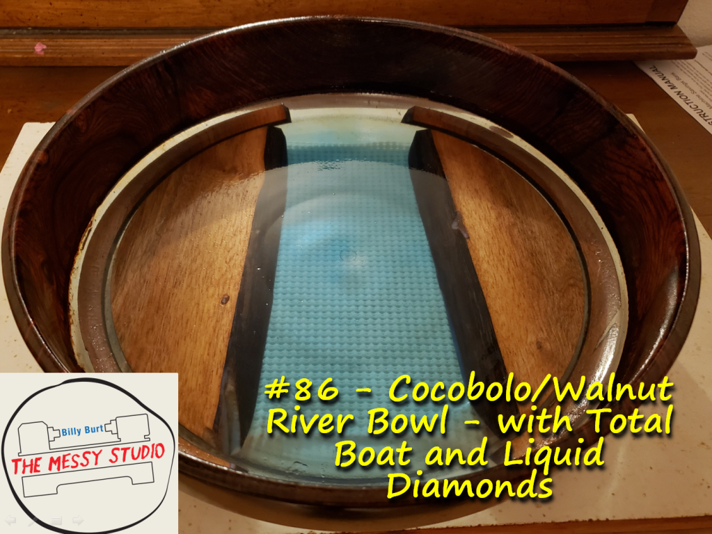 Cocobolo/Walnut River Bowl – with Total Boat and Liquid Diamonds
