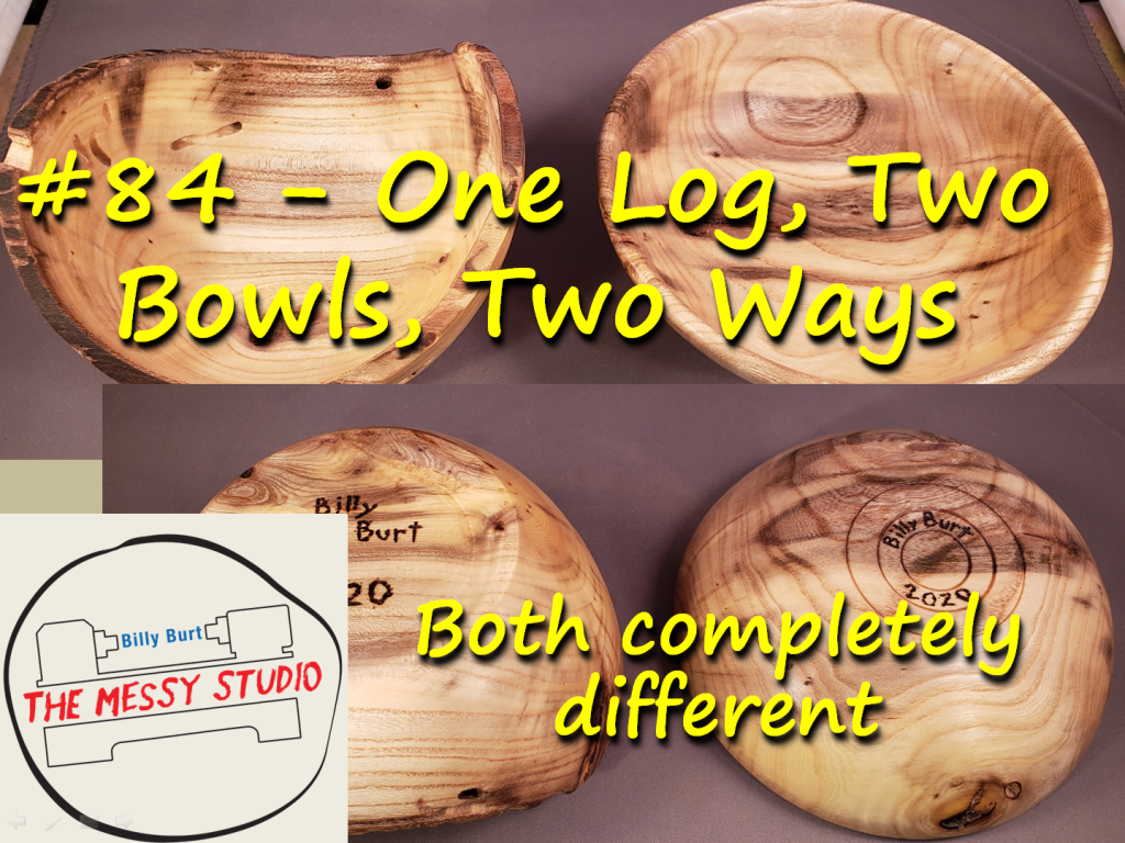 One Log, Two Bowls, Two Ways – Both completely different