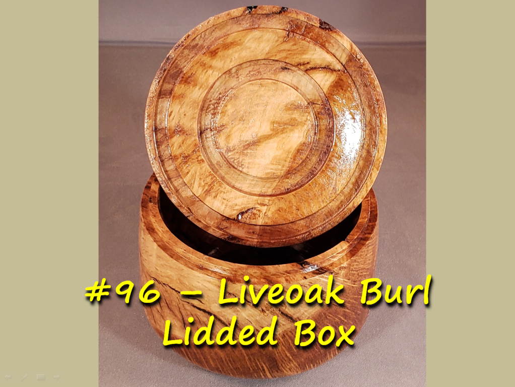 Liveoak Burl Lidded Box – Revisited from a partial fail