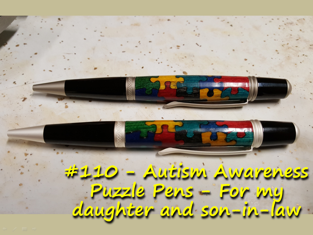 Autism Awareness Puzzle Pens – For my daughter and son-in-law