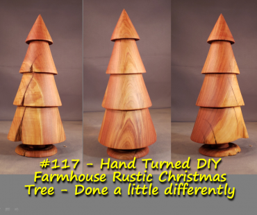 DIY Farmhouse Rustic Christmas Tree – Turned in real time