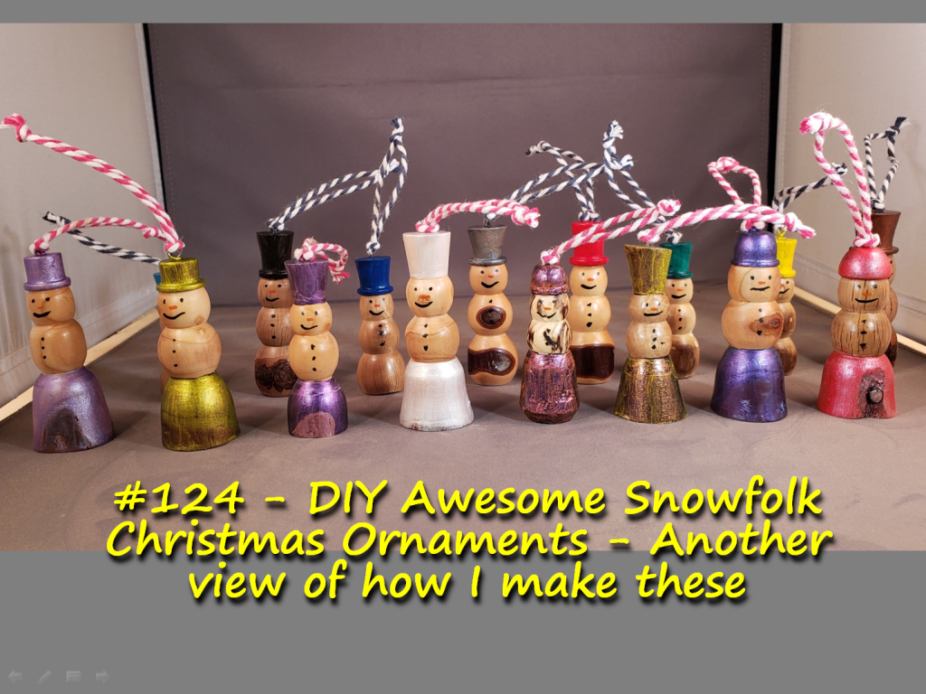 DIY Awesome Snowfolk Christmas Ornaments – Another view of how I make these