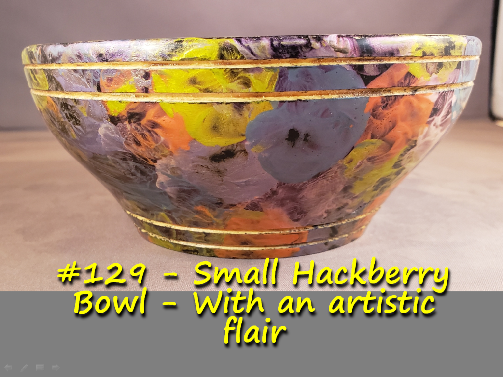 Small Hackberry Bowl – With an artistic flair